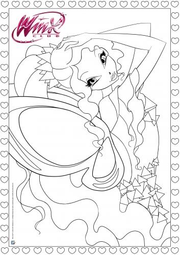 Раскраска Винкс Тайникс Лейлы - Раскраски Винкс - YouLoveIt.ru