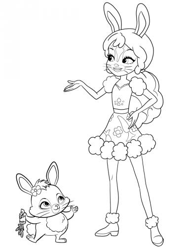 Раскраска Энчантималс Бри и кролик Твист - Раскраски ...