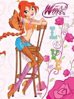 Картинка на сотовый 240*320 с Блум в ковбойском стиле - На ...: http://www.youloveit.ru/gallery/mobile_winx/14644-winx_mobile_new-10.html