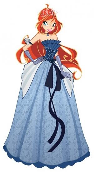 Блум в бальном платье