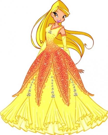 Стелла в бальном платье