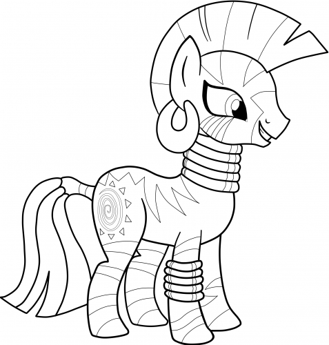 My Little Pony Zecora Coloring Pages : Mlp ms paint coloring pages