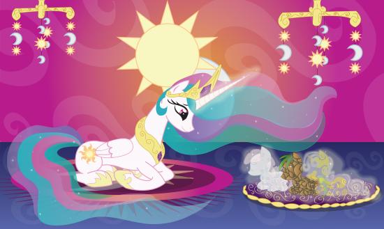 Принцесса Селестия и создание пони