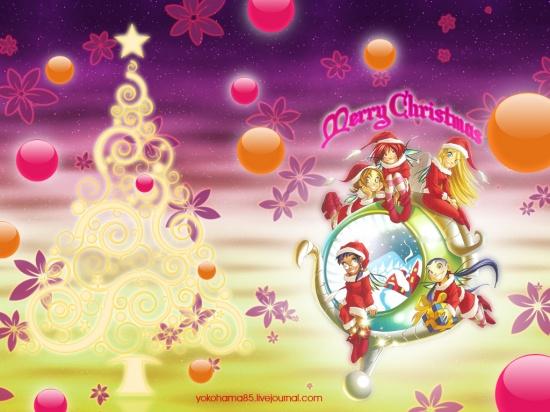 Рождественская обойка Чародейки