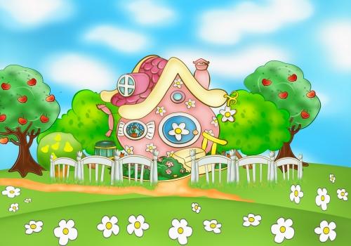 Смешарики картинки - домик Нюши
