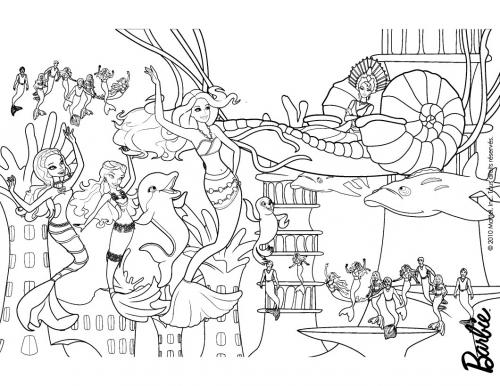 Раскраски русалочки игры