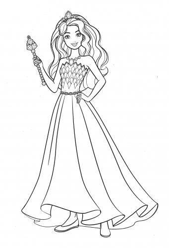 Раскраска Барби принцесса Дримтопии - Раскраски Барби ...