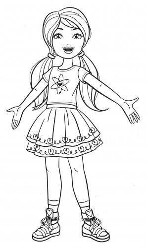 Раскраска сестренки Барби - Раскраски Барби - YouLoveIt.ru