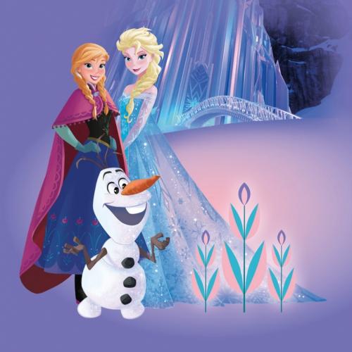 Анна и, эльза со снежками