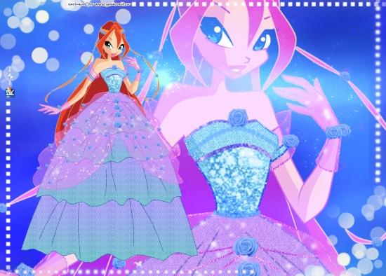 Обои Блум в бальном платье