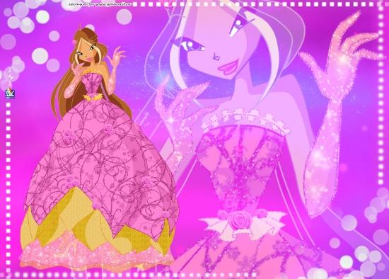 Обои Флора в бальном платье