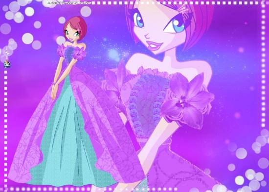 Обои Текна в бальном платье