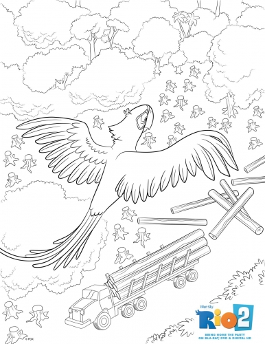 Раскраска Рио <i>раскраски <i>раскраски</i> голубчик</i> 2 Голубчик