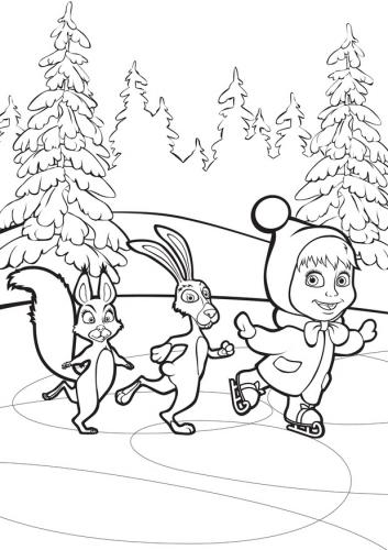 Раскраски маша и медведь игра