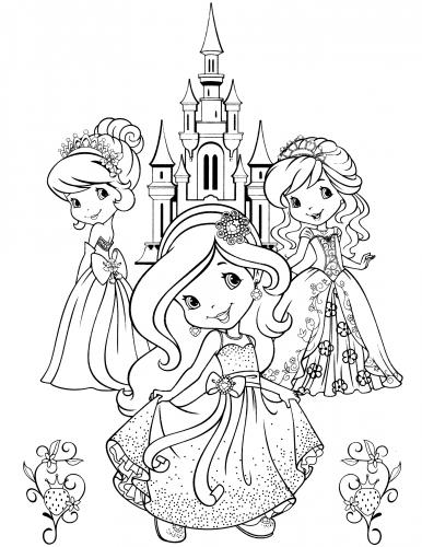 Принцесса клубника раскраски