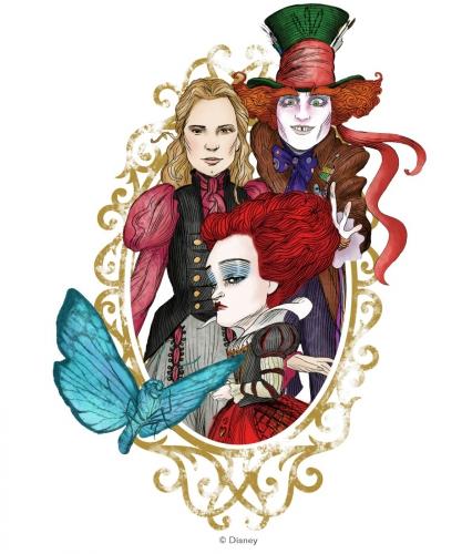 Алиса в Зазеркалье рисунки главных героев
