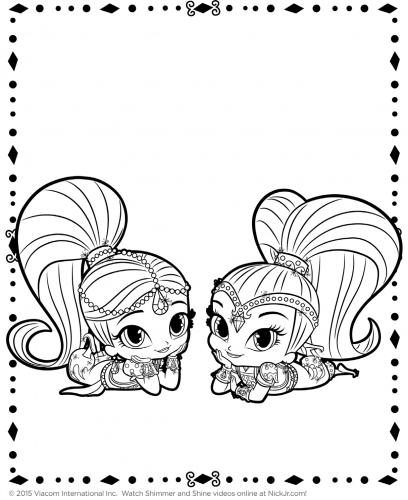 Раскраска ёлки и девочки