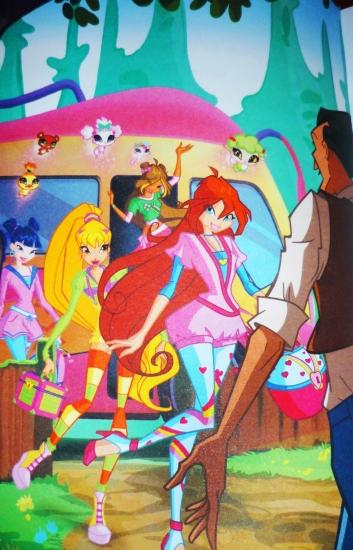 Винкс в стиле 4 сезона, картинка из книги про Белль
