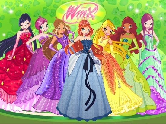 Винкс в бальных платьях