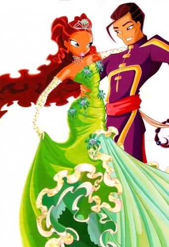 Набу и Лейла в бальном платье