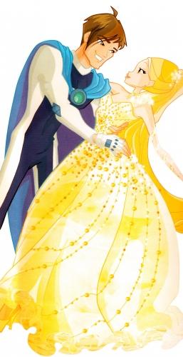 Брендон и Стелла в бальном платье