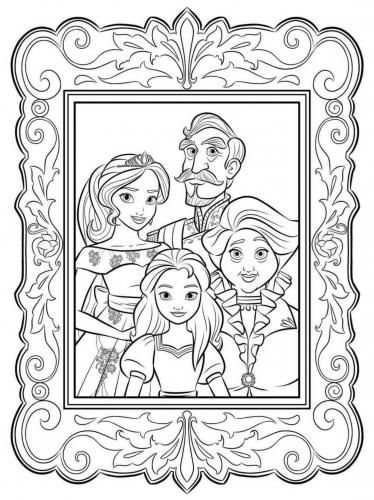 Раскраска семейный портрет принцессы Елены - Раскраски ...