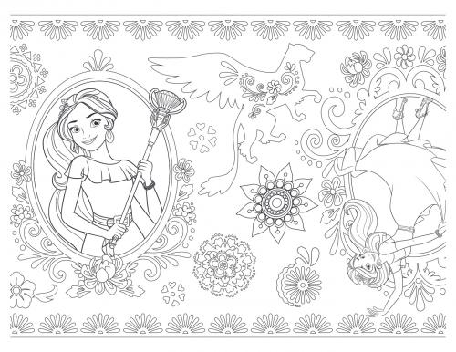 Елена принцесса Авалора раскраска с узорами - Раскраски ...