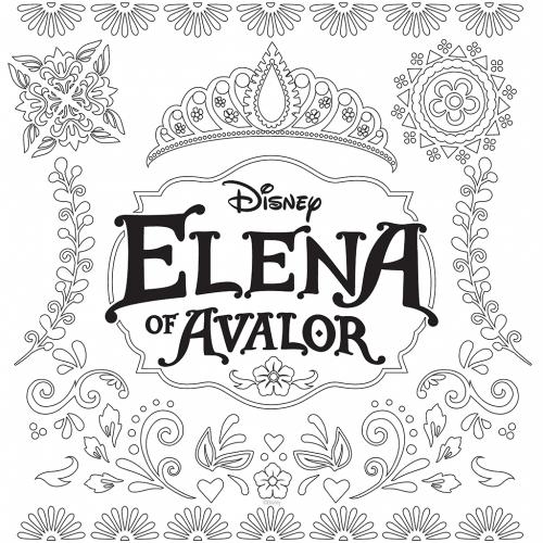 Елена принцесса Авалора раскраска короны - Раскраски Елена ...