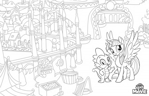Раскраска Мой Маленький Пони в кино - принцесса Искорка и ...