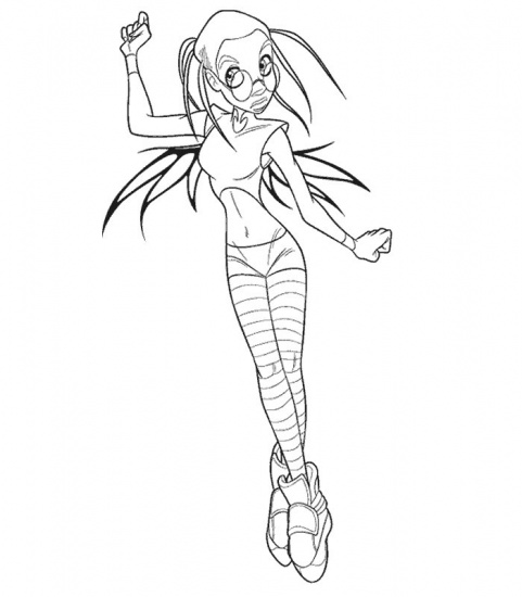 jetix witch coloring pages - photo#1