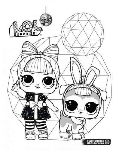 Раскраска Лол и питомца кролика - Раскраски Лол LOL ...