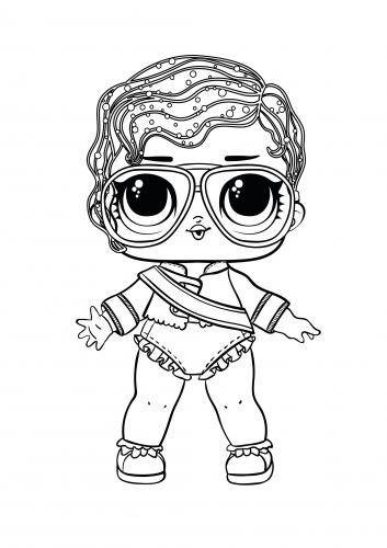 Большая картинка раскраска ЛОЛ Shimone Queen - Раскраски ...