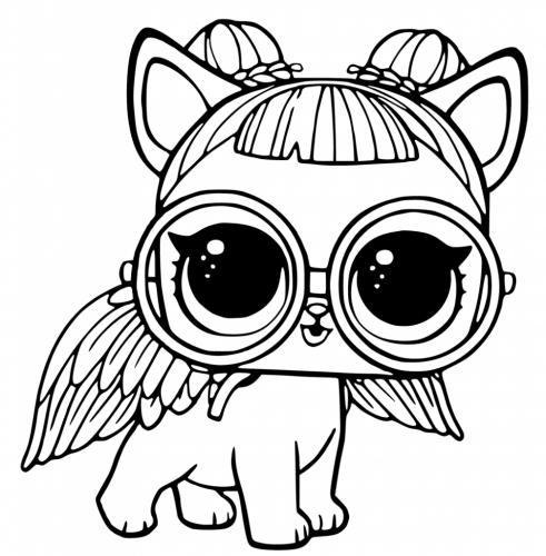 Раскраска питомец Лол - кошка ангел - Раскраски Лол LOL ...