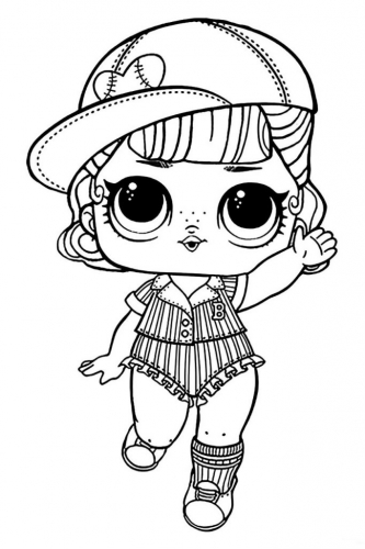 Раскраска кукла Лол бейсболистка - Раскраски Лол LOL ...
