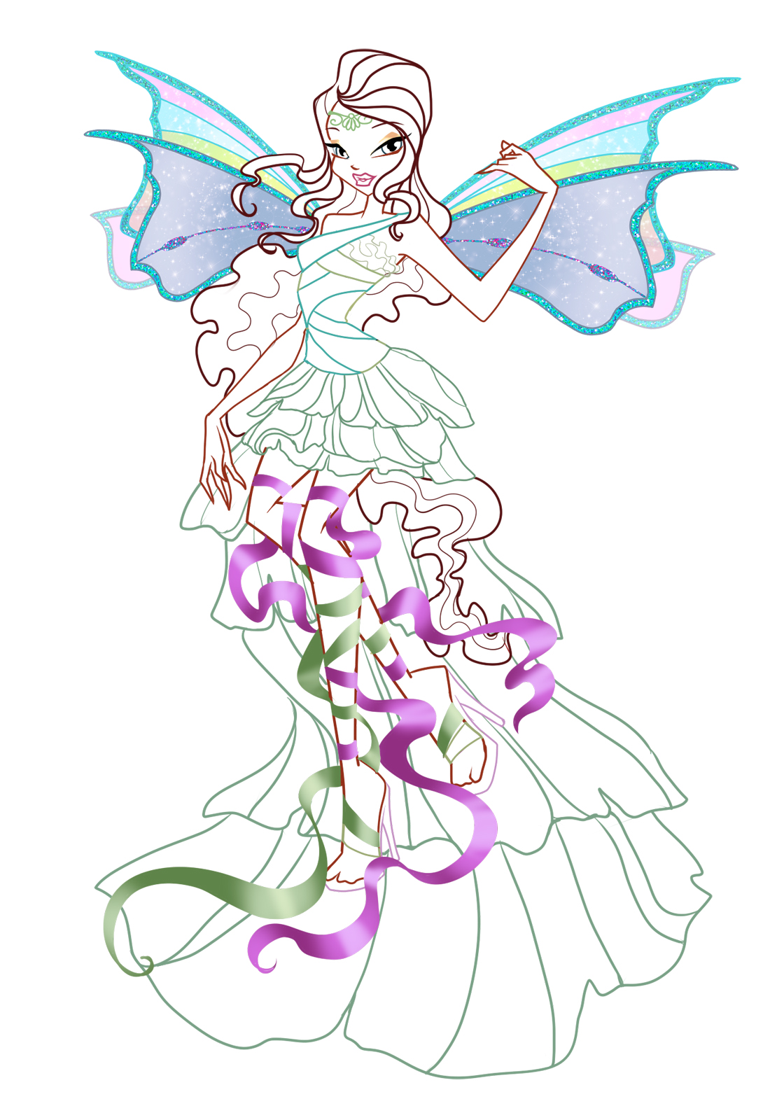 Лейла и флора раскраски