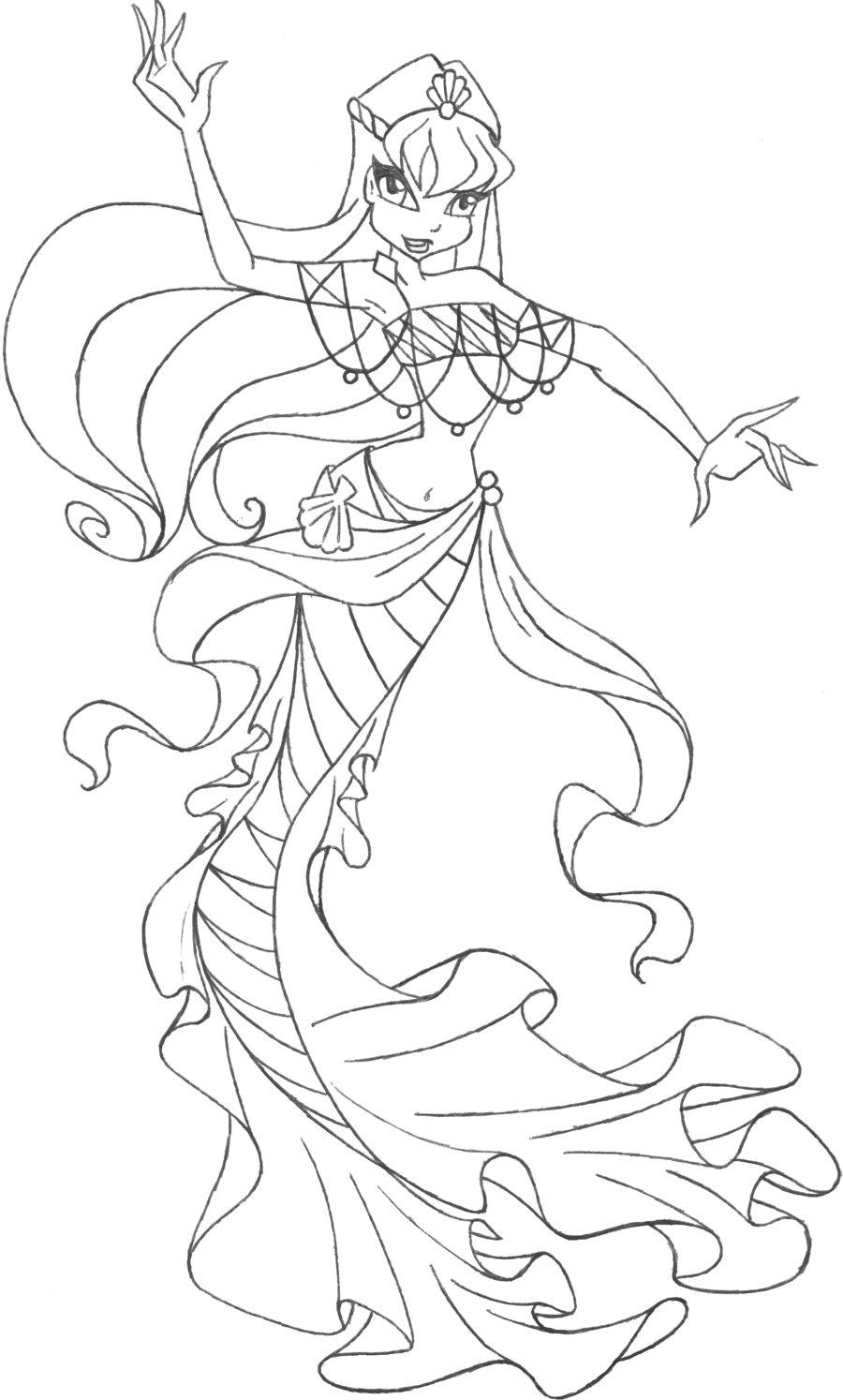 Раскраска русалочка печатать - 55