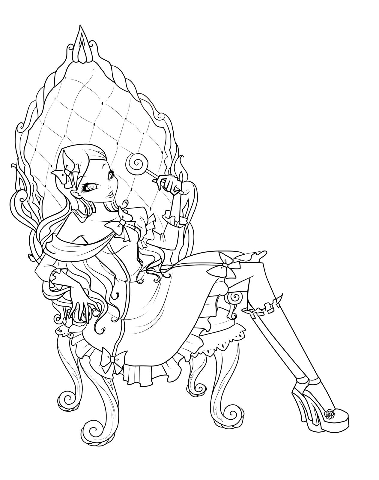 Раскраска Рокси лолита в кресле - Раскраски Винкс ...