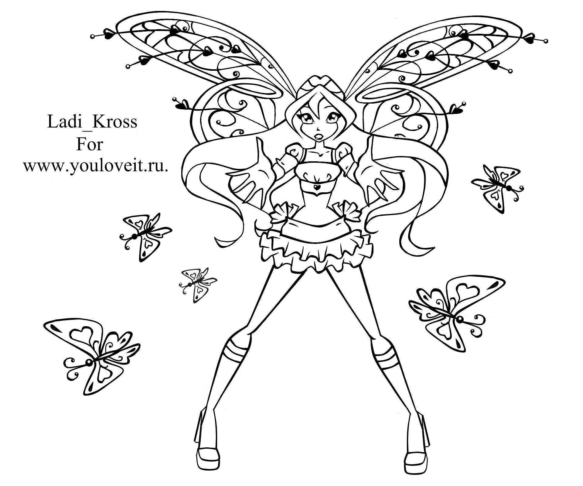раскраска винкс беливикс блум - Раскраски Винкс - YouLoveIt.ru