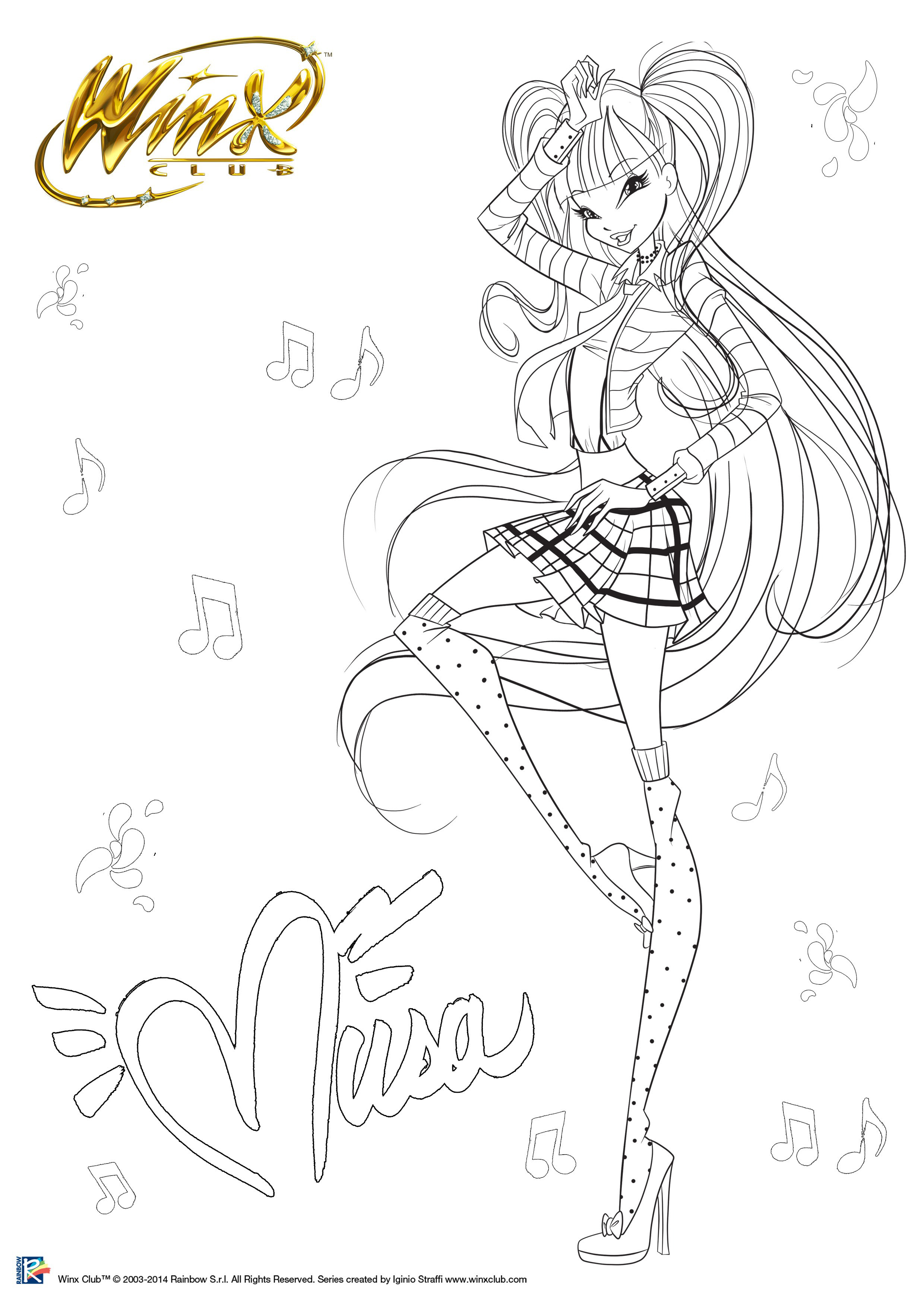 Муза Винкс Fairy Couture раскраска - Раскраски Винкс ...