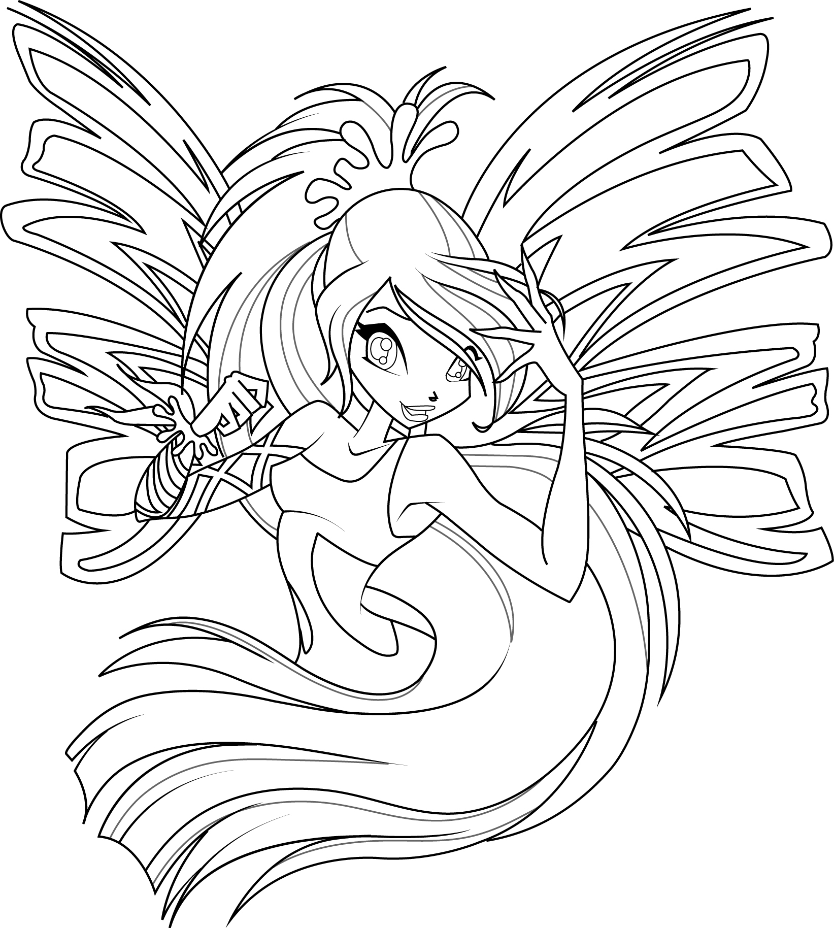 - Coloriage winx bloom ...