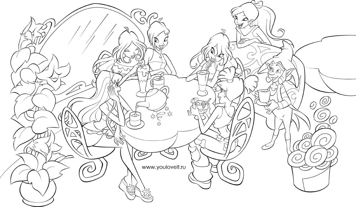 Раскраска для девочек винкс онлайн бесплатно - 1