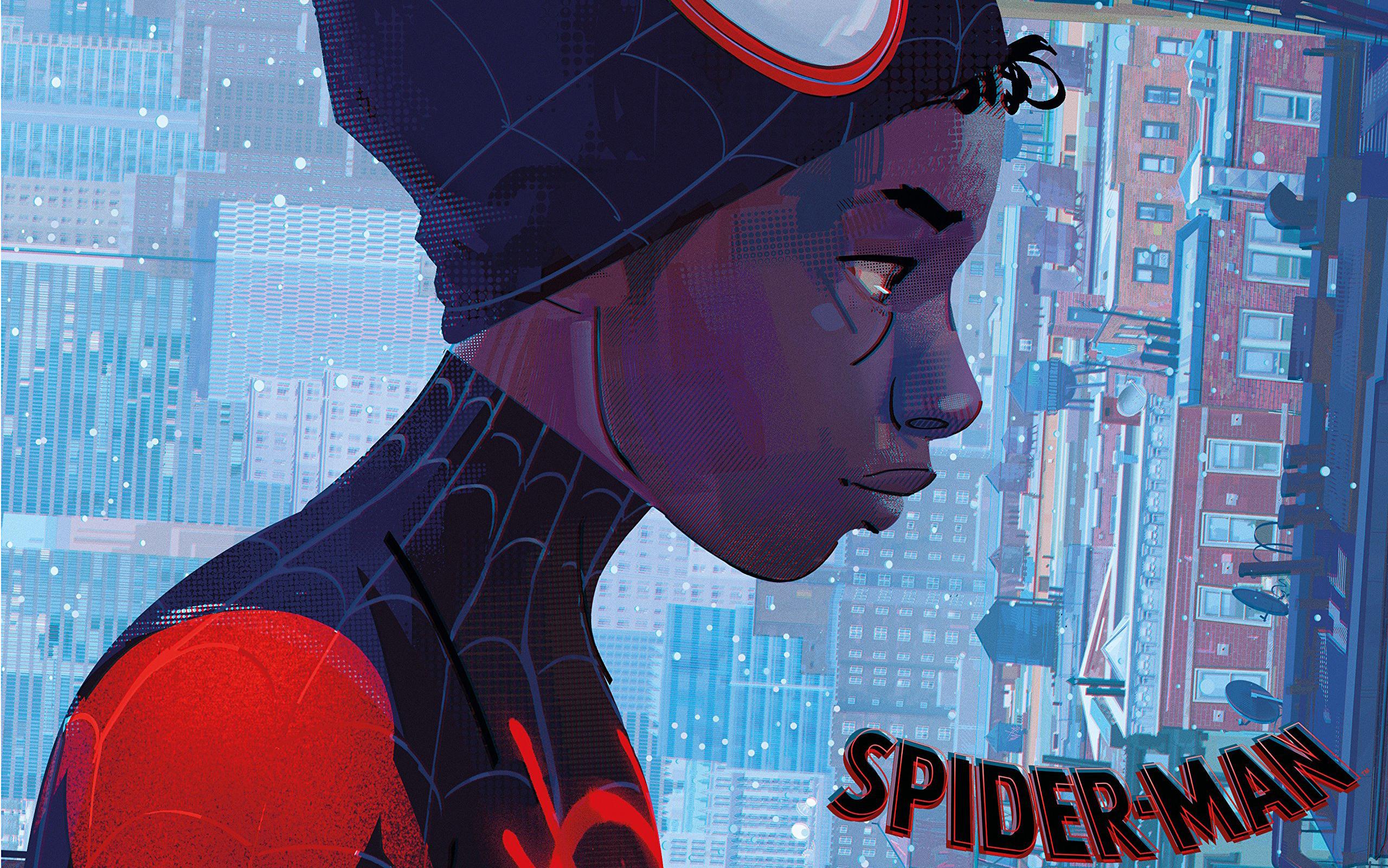 Человек-паук Через вселенные обои с Майлзом - Человек-паук ...