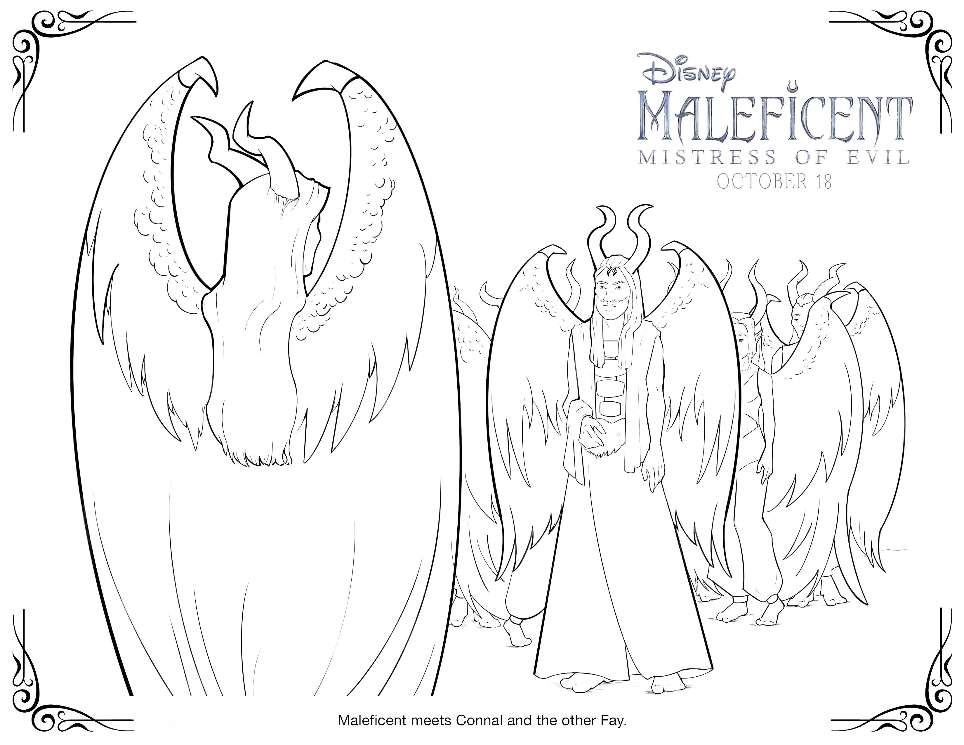 Раскраска Малефисента с крыльями и другие сохранившиеся ...