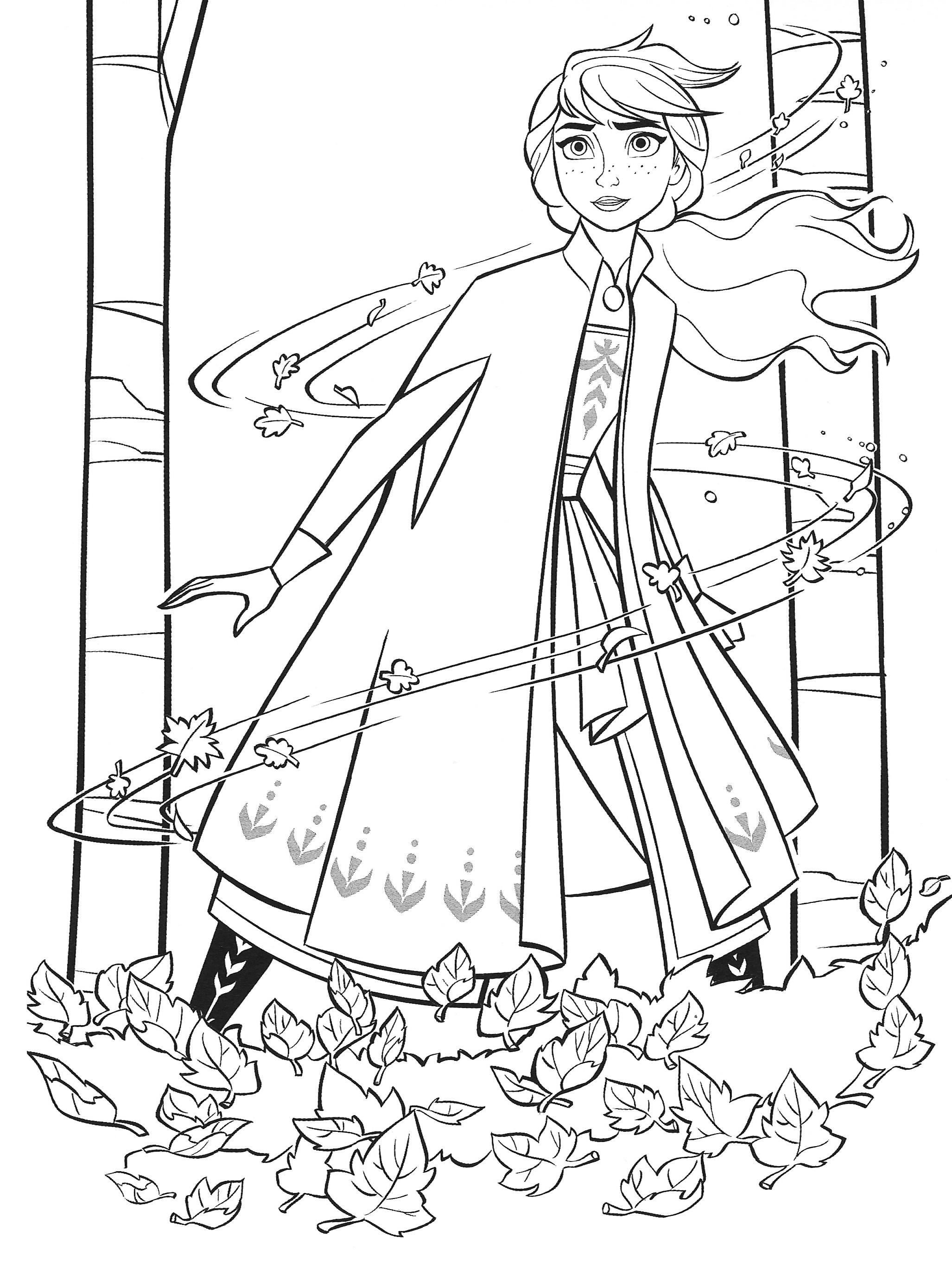 Раскраска Холодное Сердце 2 для девочек с принцессой Анной ...