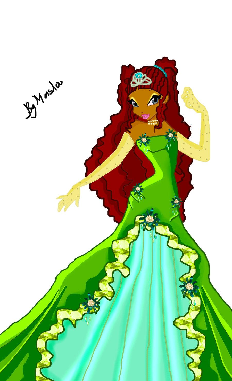 Картинки винкс лейла в платье 3