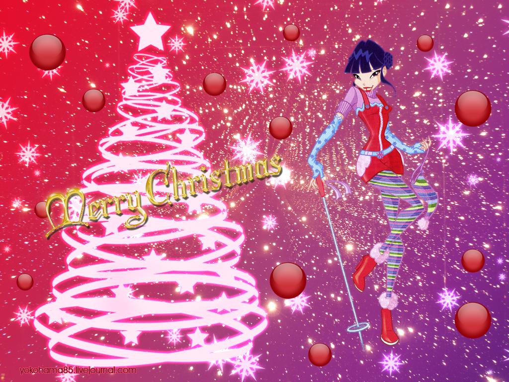 Винкс рождество новый год обои картинки winx christmas!