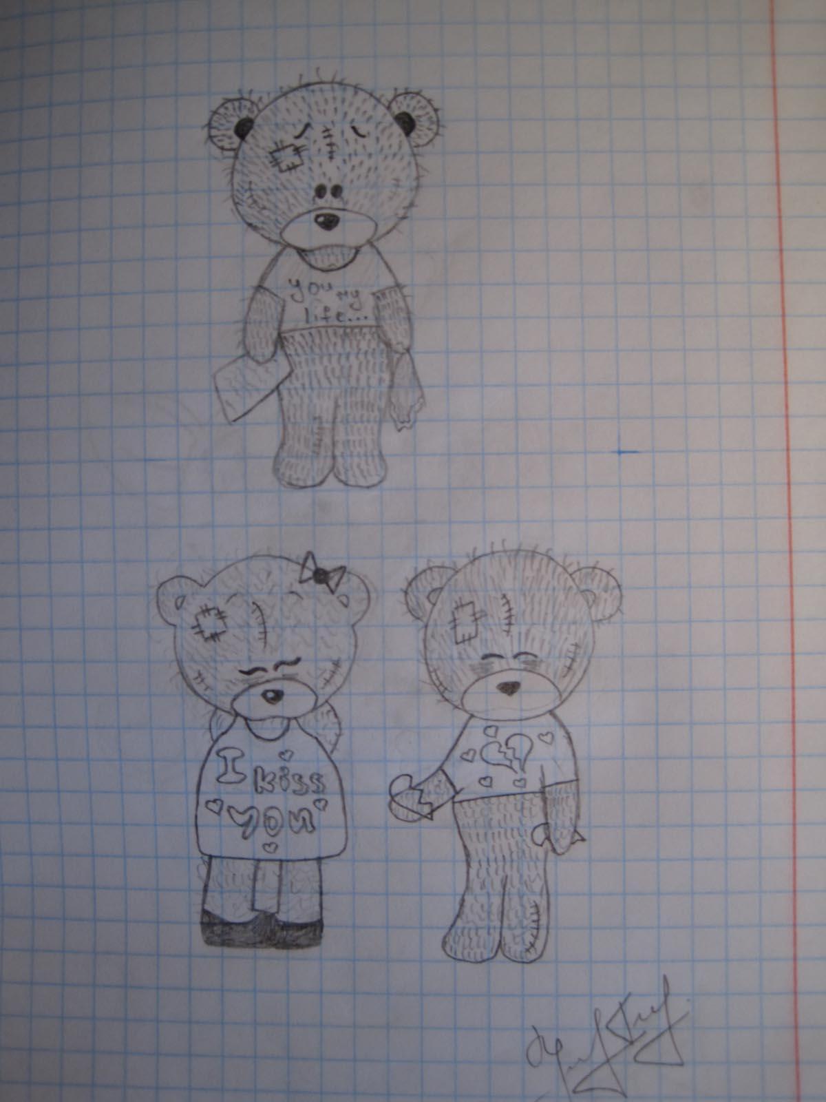 мишки рисунки