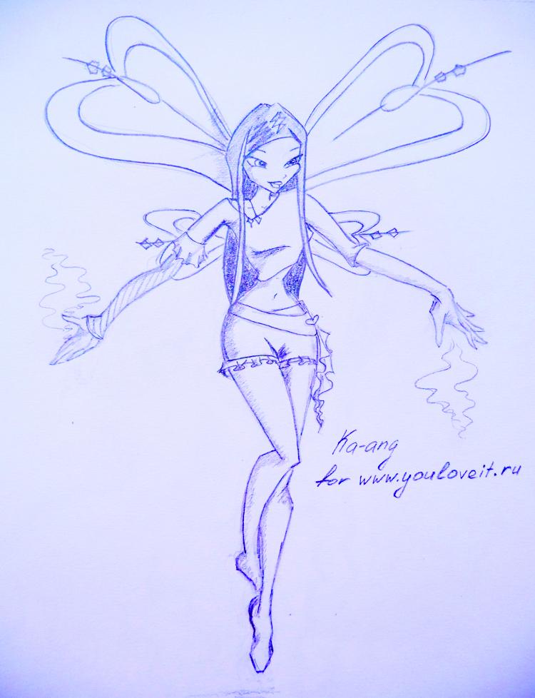 Рисунки винкс карандашом фото