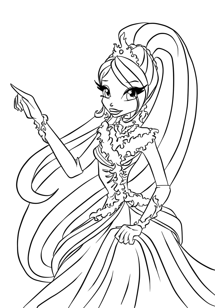 Coloring Pages Le Bloom : Mermaid winx colouring pages