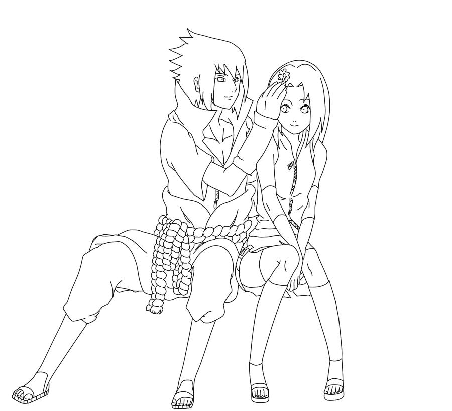 как рисовать аниме саске: